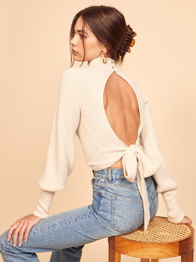 Osteria Open Back Sweater