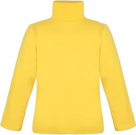 Lovetti Girls' Basic Long Sleeve Turtleneck 100% Cotton T-Shirt