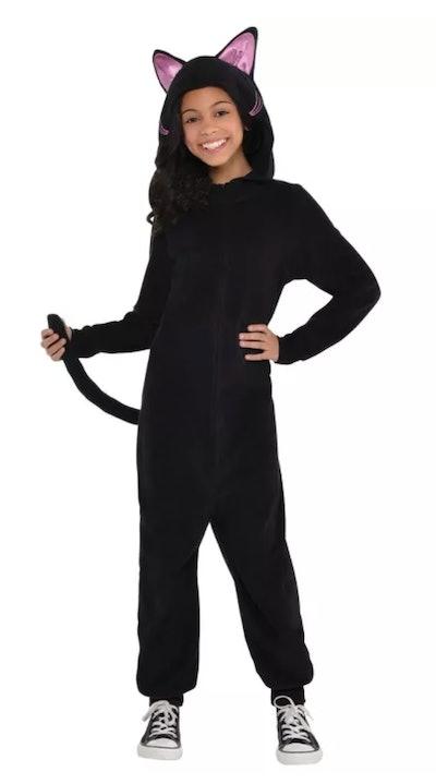 Kids Black Cat Zipster Halloween Costume