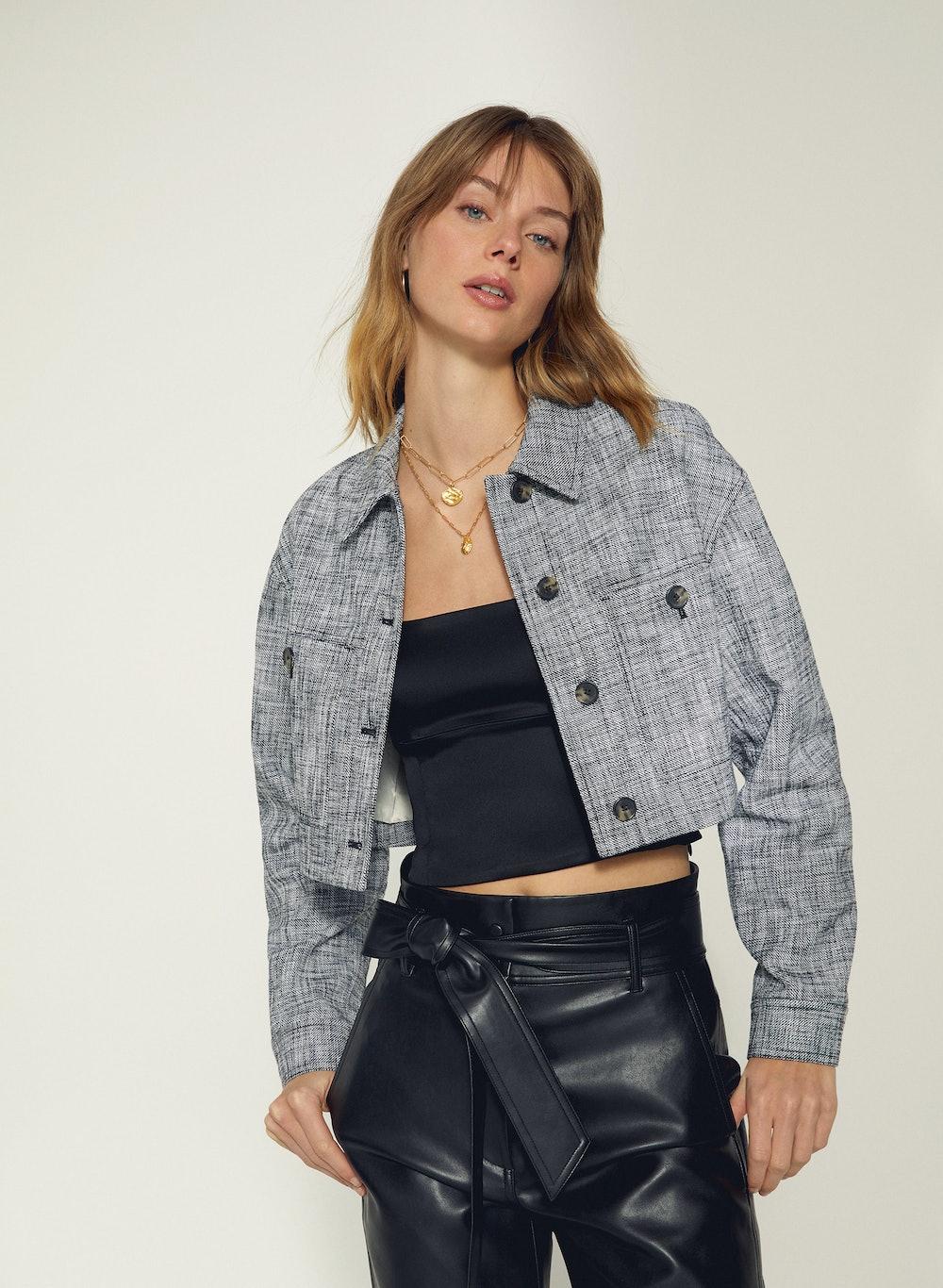 Little Cropped Tweed Jacket