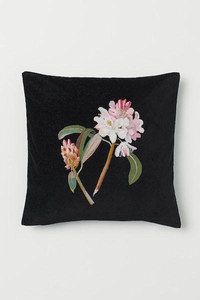Floral-Design Cushion Cover
