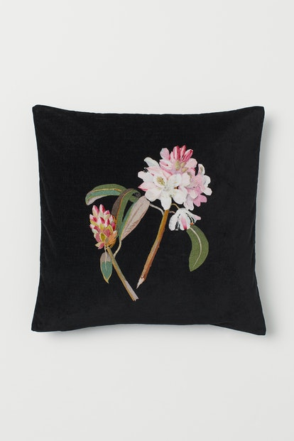 Floral-Design Cushion Cover