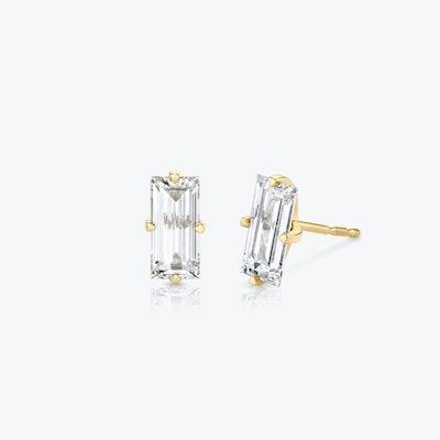 Baguette Diamond Studs