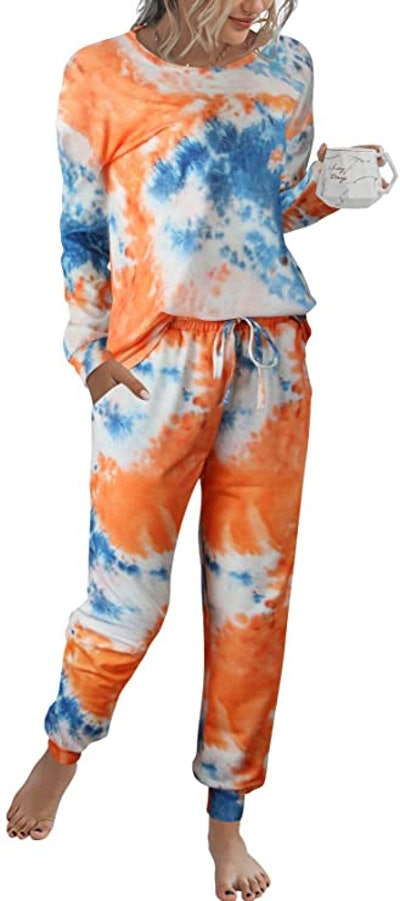 AMABMB Pajama Tie Dye Sweatsuit