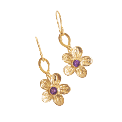 Benjul Amethyst Droplet Earrings