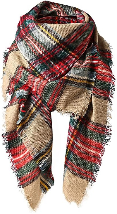 American Trends Classic Plaid Scarf