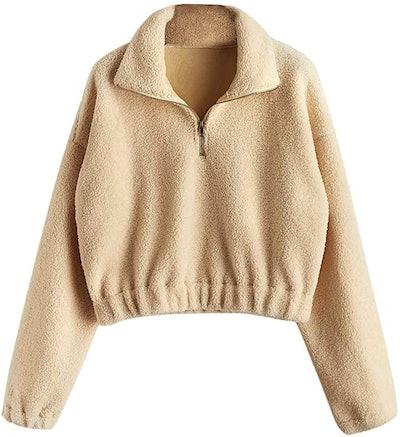 ZAFUL Faux Fur Pullover