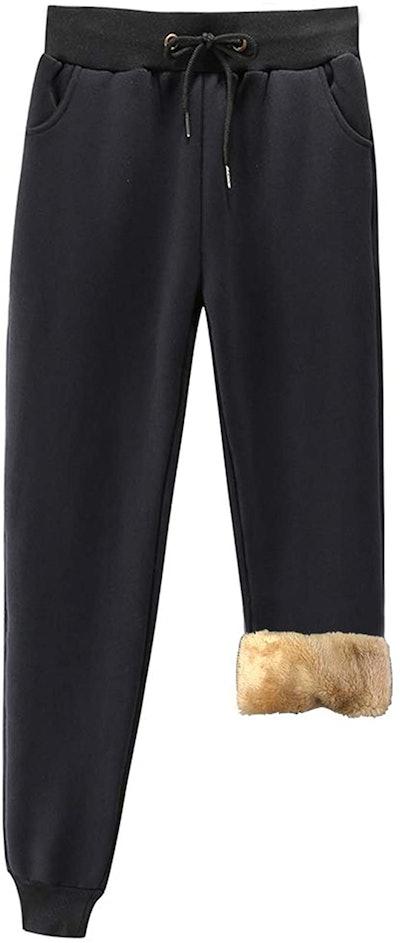 Duyang Warm Sherpa Lined Sweatpants