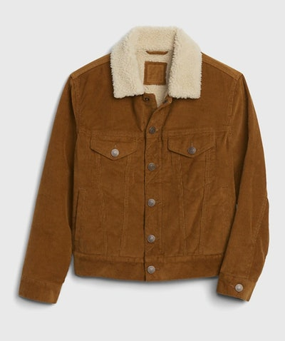 Kids Sherpa Lined Cord Jacket