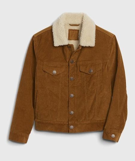 Kids Sherpa Lined Cord Jacket