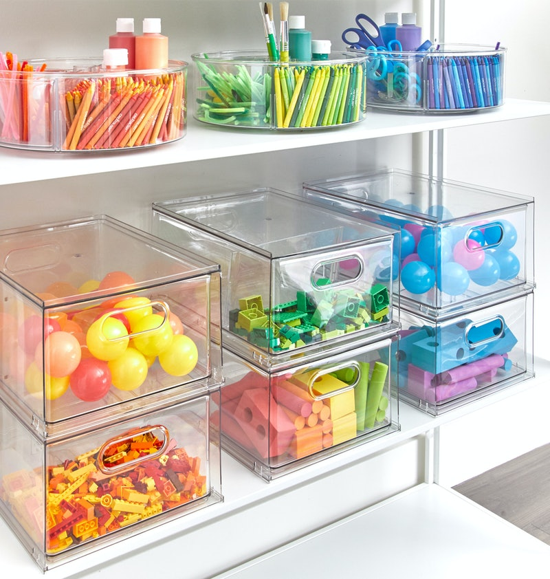 rainbow organisation with the home edit storage solutions
