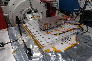 NASA's contribution to RIME, a transmitter.