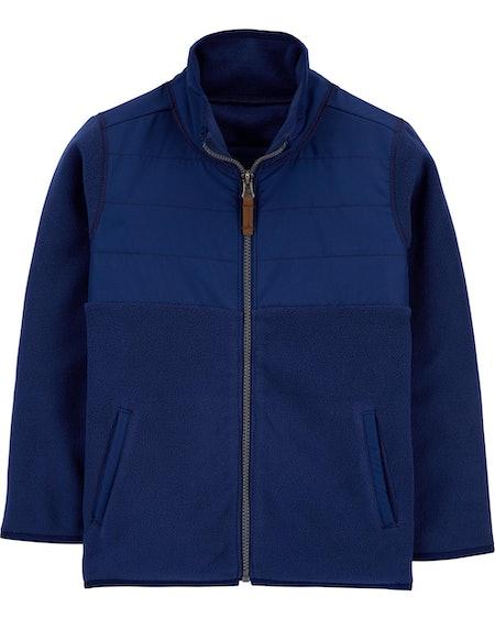 Zip-Up Fleece Jacket in Blue