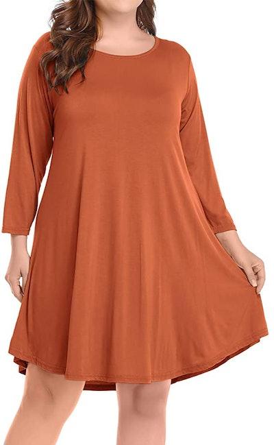 BELAROI Casual Flare T-Shirt Dress