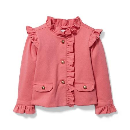 Girl Desert Rose Ruffle Ponte Jacket