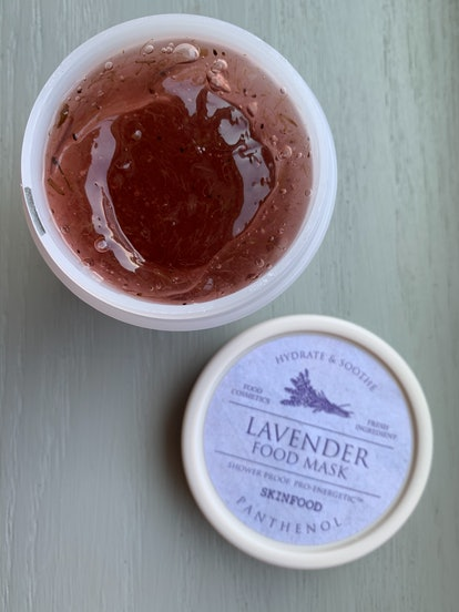 The SKINFOOD Lavender Food Mask, one of SKINFOOD's new Food Masks.