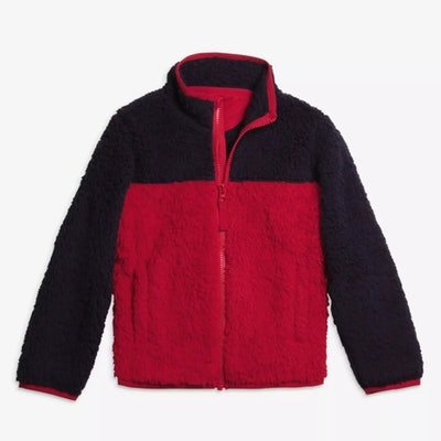 Cozy Fleece Jacket in Cherry/Navy