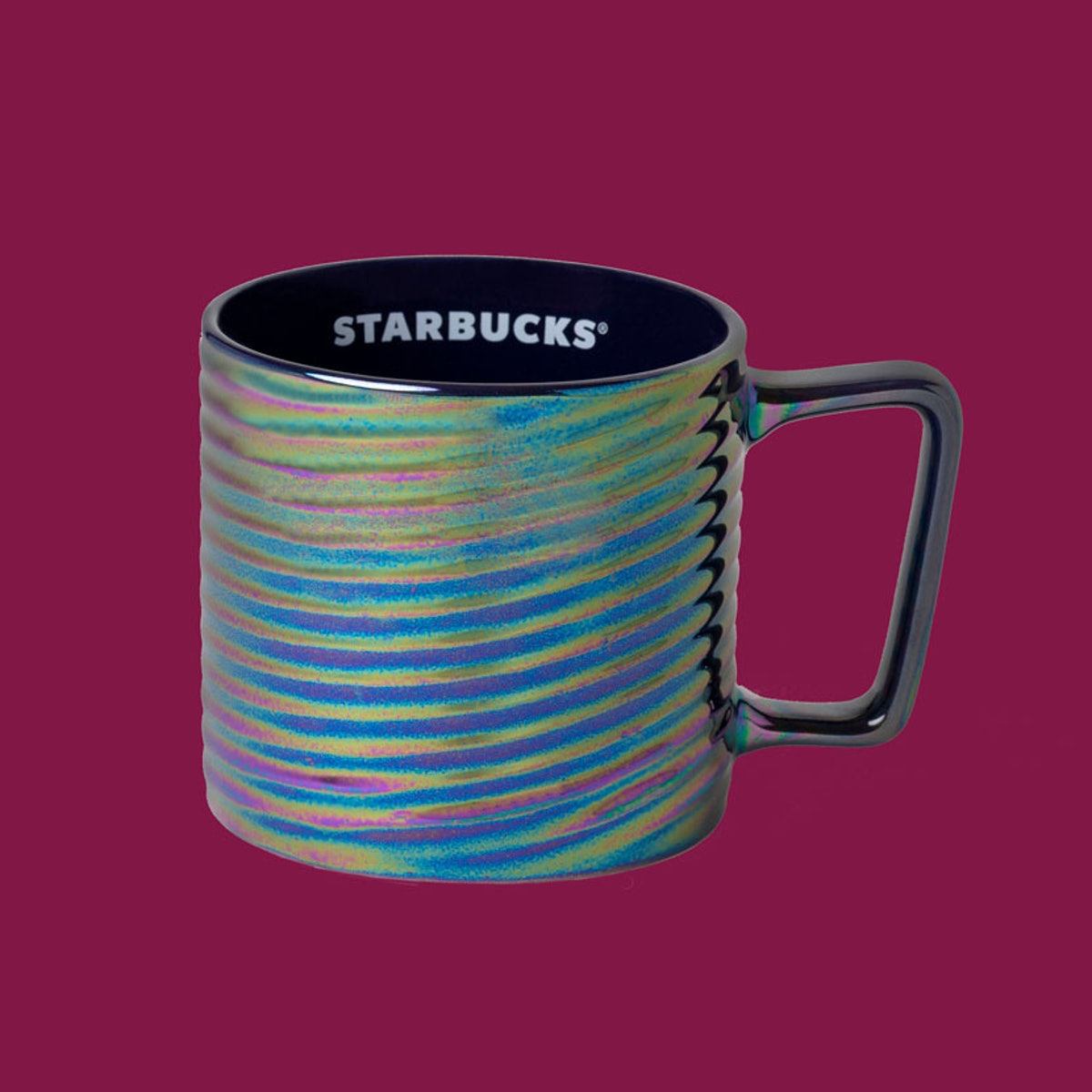 Starbucks' Holiday 2020 tumblers and cold cups include a Rainbow Luster Mug.
