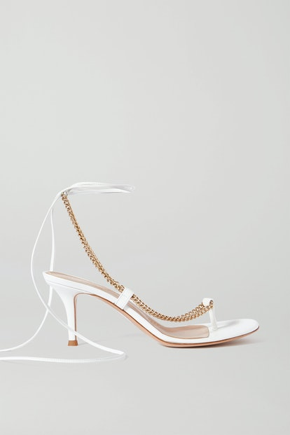 70 Chain-Embellished Leather Sandals