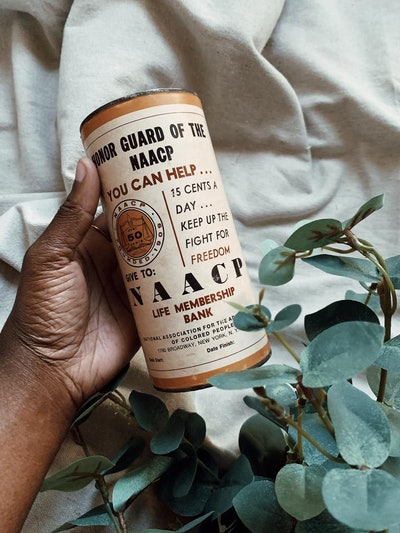 VINTAGE RARE NAACP FUNDRAISING COIN BANK (1976)