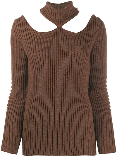 Speckled Cut-Out Jumper