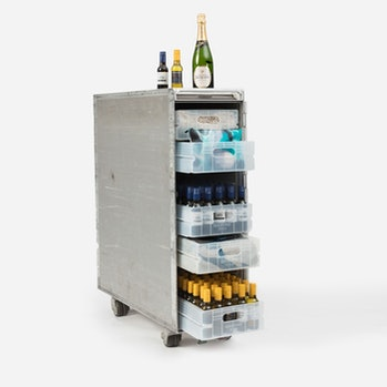 Qantas Airways is selling fully-stocked bar carts that it removed from its planes.