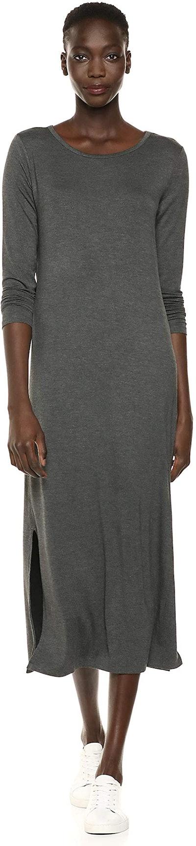 Daily Ritual Jersey Long-Sleeve Maxi Dress