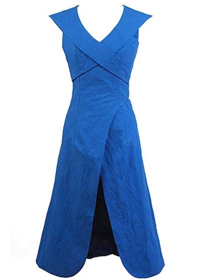 Game of Thrones Costume Mother of Dragons Daenerys Targaryen Blue Dress