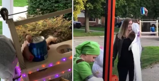 """A Michigan man invented the most brilliant """"Halloween Zip Line."""""""