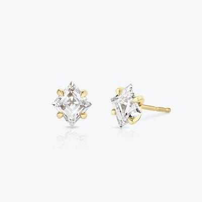 Lozenge Diamond Studs