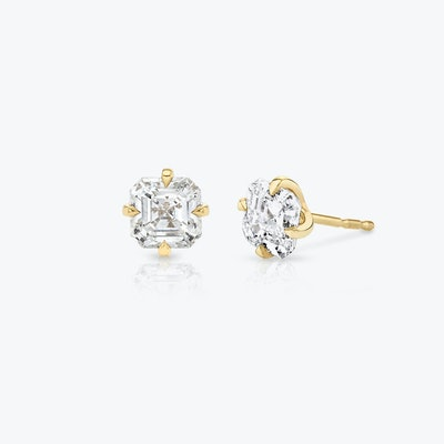 Asscher Diamond Studs