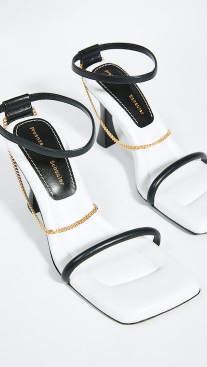 Chain Strap High Sandals