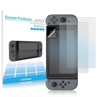 amFilm Anti-Glare Nintendo Switch Screen Protector