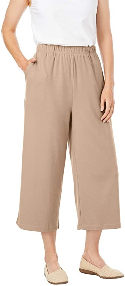 Woman Within Plus Size 7-Day Knit Culotte Pants