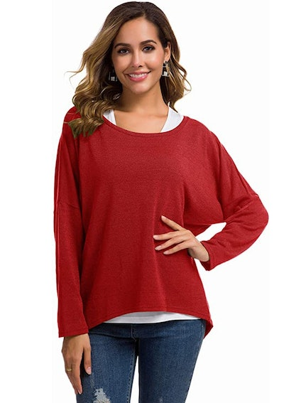 UGET Women's Oversized Baggy Sweater