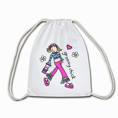 Groovy Chick Drawstring Bag