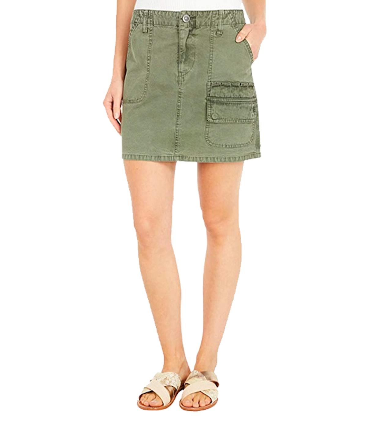 Hunter Mini Skirt in Military Olive