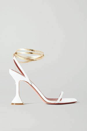 Henson Chain-Embellished Leather Sandals