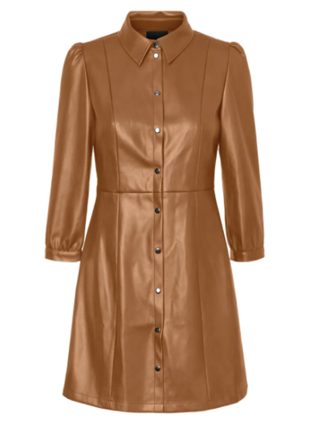 Molly Butter Faux Leather Dress