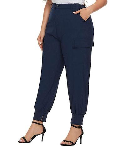 Hanna Nikole Plus Size Casual Jogger Pants