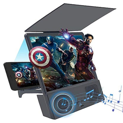 GLISTON 8'' 3D Phone Screen Enlarger with Bluetooth Speaker,