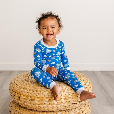 Hanukkah Celebration Two-Piece Bamboo Viscose Pajama Set