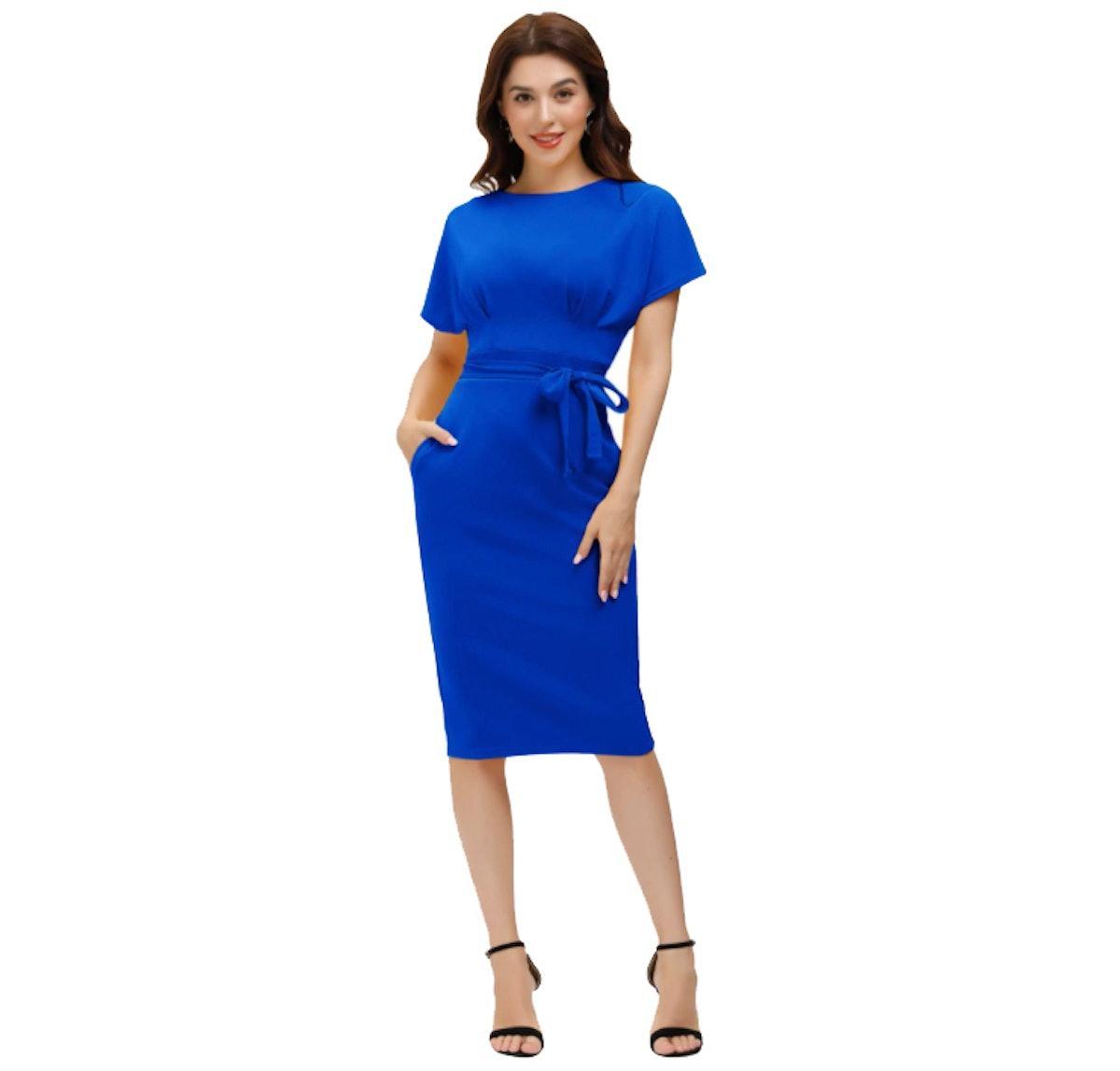 JASAMBAC Women's Bodycon Pencil Dress