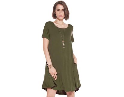 JollieLovin Women's Casual Swing Dress
