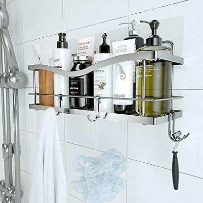 KINCMAX Shower Caddy Basket Shelf with Hooks