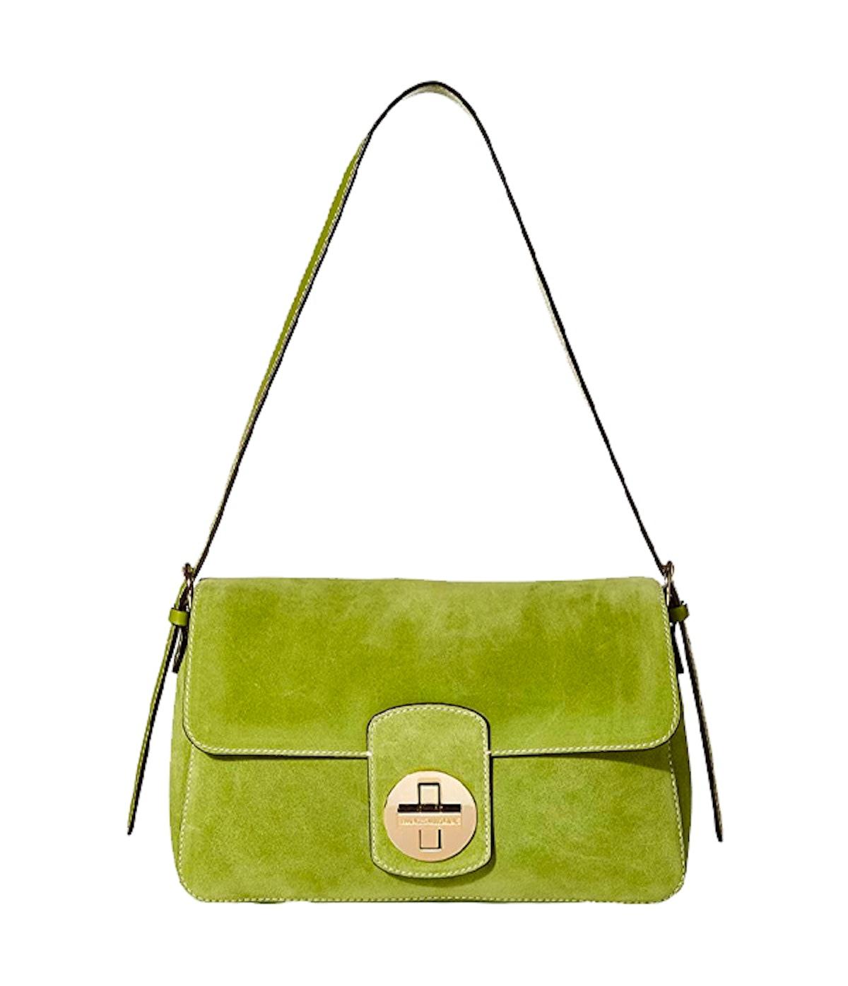 Ruby Suede Medium Shoulder Flap Bag