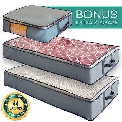 Mill & Mint Undercover Cubes 3 Under Bed Storage Bins