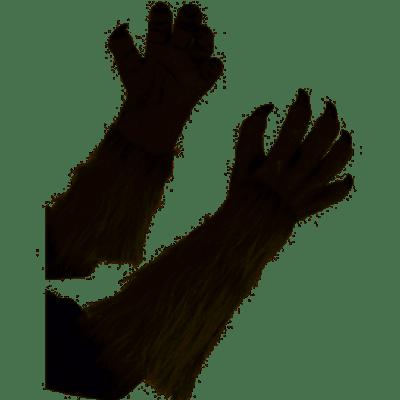 Gray Werewolf Gloves