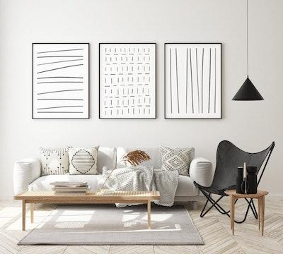 Trio of Geometric Prints