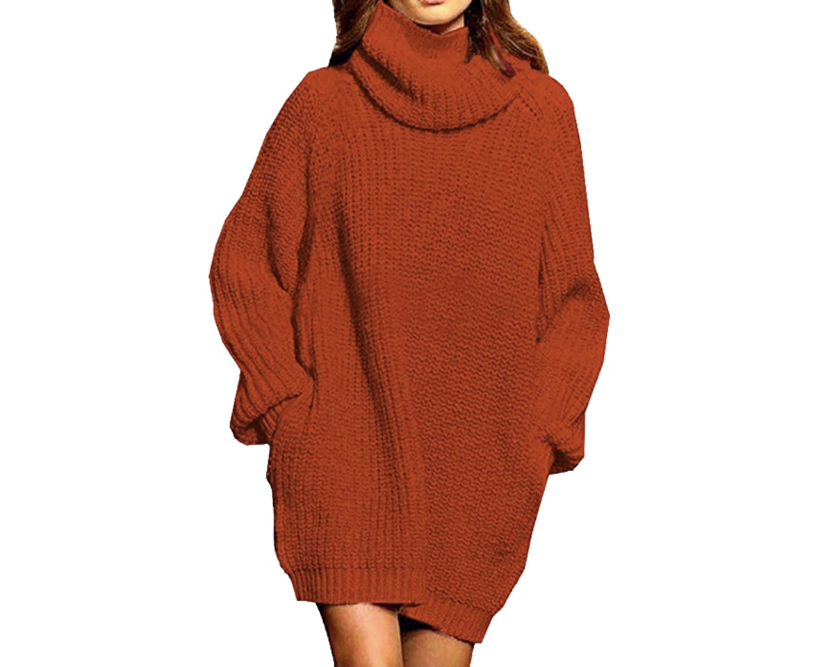 Pink Queen Women's Loose Sweater Dress